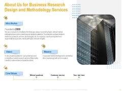 About Us For Business Research Design And Methodology Services Template PDF