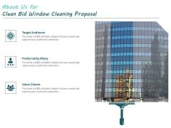 About Us For Clean Bid Window Cleaning Proposal Ppt Model Design Templates PDF