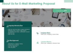 About Us For E Mail Marketing Proposal Ppt PowerPoint Presentation Ideas Tips