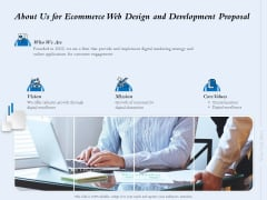 About Us For Ecommerce Web Design And Development Proposal Ppt Design Templates PDF