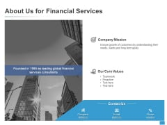About Us For Financial Services Mission Ppt PowerPoint Presentation Infographic Template Skills