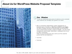 About Us For Wordpress Website Proposal Template Ppt PowerPoint Presentation Icon Graphics Pictures
