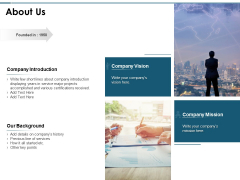 About Us Introduction Ppt PowerPoint Presentation Infographics Mockup