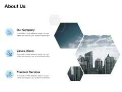 About Us Our Company Premium Services Ppt PowerPoint Presentation Layouts Background Image
