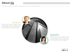 About Us Page For Company Profile Information Powerpoint Slides