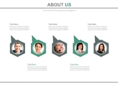 About Us Page For Team Information Powerpoint Slides