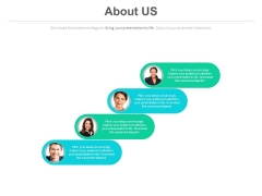 About Us Page Layout With Team Information Powerpoint Slides