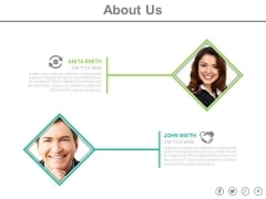 About Us Page Of Business Partners Powerpoint Slides