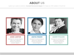 About Us Page Of Corporate Team Powerpoint Slides