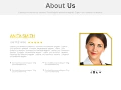 About Us Page With Employee Picture Powerpoint Slides