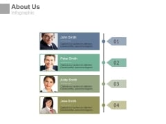 About Us Page With Team Profiles Tags Powerpoint Slides