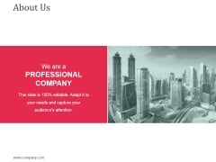 About Us Ppt Powerpoint Presentation Infographic Template Objects