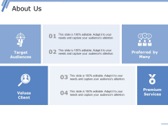 About Us Ppt PowerPoint Presentation Inspiration Elements