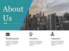 About Us Ppt PowerPoint Presentation Layouts Infographics