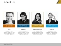 About Us Ppt PowerPoint Presentation Samples
