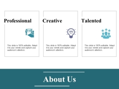 About Us Ppt PowerPoint Presentation Show Demonstration