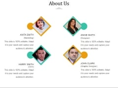 About Us Ppt PowerPoint Presentation Slides Example Topics