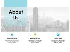 about us premium services ppt powerpoint presentation background images