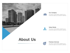 About Us Premium Services Ppt PowerPoint Presentation Layouts Gallery