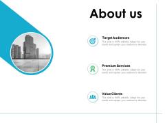 About Us Premium Services Ppt PowerPoint Presentation Model Gridlines
