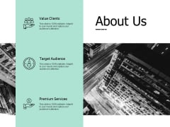 About Us Premium Services Ppt PowerPoint Presentation Styles Smartart