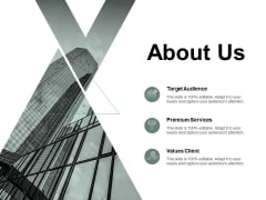 About Us Premium Services Target Ppt PowerPoint Presentation Styles Mockup