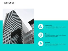 About Us Professional Creative Ppt PowerPoint Presentation Slides Icon