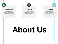 About Us Professional Ppt PowerPoint Presentation Model Infographic Template