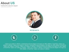 About Us Social Media Profile Powerpoint Slides