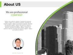 About Us Style For Professional Company Powerpoint Slides
