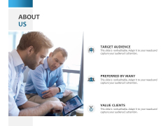 About Us Target Audience Ppt PowerPoint Presentation Ideas Guide
