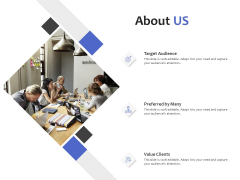About Us Target Audience Ppt PowerPoint Presentation Infographic Template Graphic Images