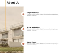 About Us Target Audience Ppt PowerPoint Presentation Infographic Template Themes