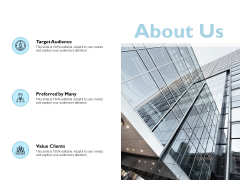 About Us Target Audience Ppt PowerPoint Presentation Model Templates