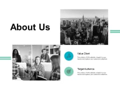 About Us Target Audience Ppt PowerPoint Presentation Outline Graphic Images