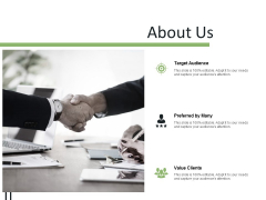 About Us Target Audience Ppt PowerPoint Presentation Outline Slides
