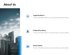 About Us Target Audience Ppt PowerPoint Presentation Portfolio Files
