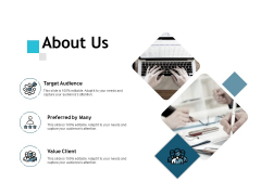 About Us Target Audience Ppt PowerPoint Presentation Professional Designs