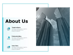 About Us Target Audience Ppt PowerPoint Presentation Show Backgrounds