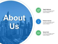 About Us Target Audiences Ppt PowerPoint Presentation File Introduction