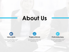 About Us Target Audiences Ppt PowerPoint Presentation File Skills