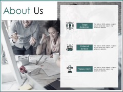 About Us Target Audiences Ppt PowerPoint Presentation Infographic Template Example File