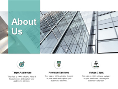About Us Target Audiences Ppt PowerPoint Presentation Inspiration Introduction