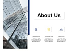 About Us Target Audiences Ppt PowerPoint Presentation Model Elements