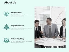 About Us Target Audiences Ppt PowerPoint Presentation Model Images