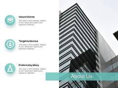 About Us Target Audiences Ppt PowerPoint Presentation Show Design Templates
