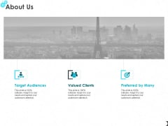 About Us Target Audiences Ppt PowerPoint Presentation Show Introduction