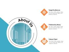 About Us Target Audiences Ppt PowerPoint Presentation Slides Diagrams