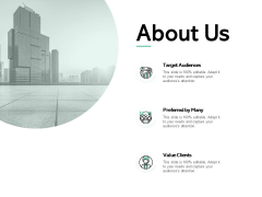 About Us Target Audiences Ppt PowerPoint Presentation Slides Display