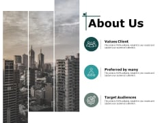 About Us Target Audiences Ppt PowerPoint Presentation Slides Tips